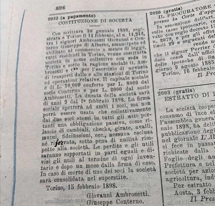 Satzung G. Ambrosetti & Co.