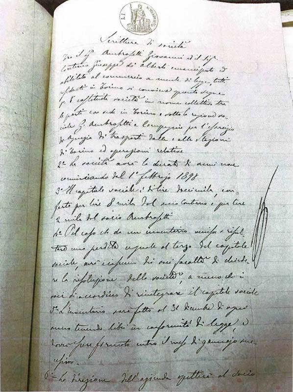costituzione G. Ambrosetti e Compagni