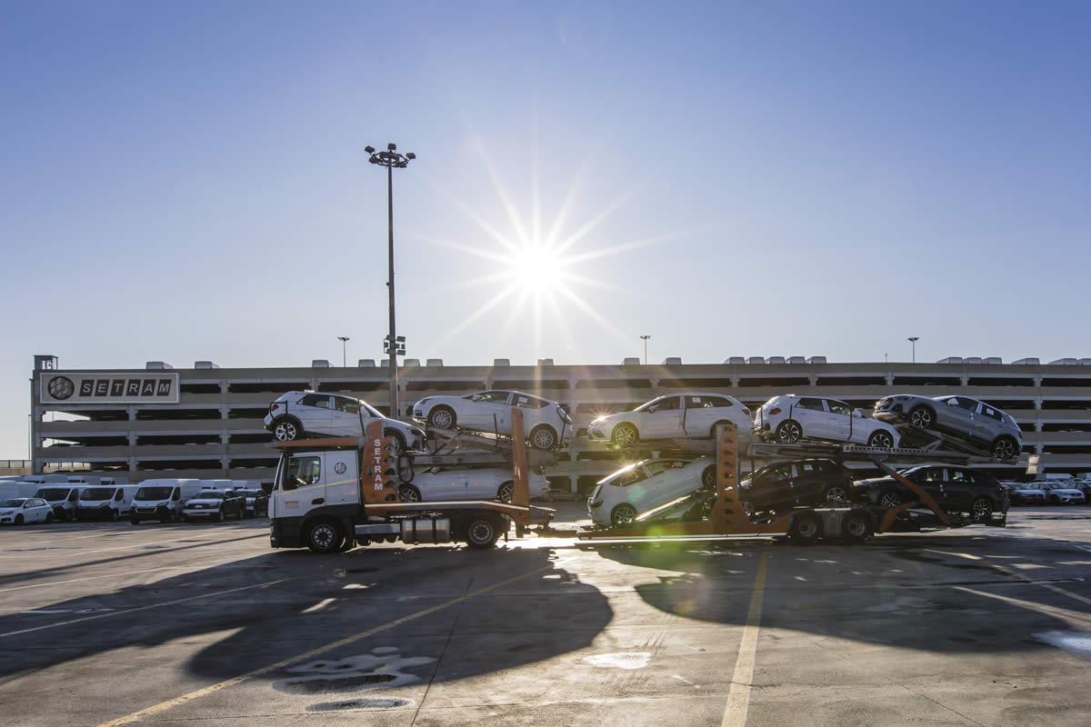 SETRAM Auto-Terminal im Hafen von Barcelona