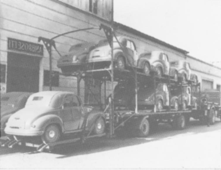Erster Autotransporter – FIAT 500 Topolino