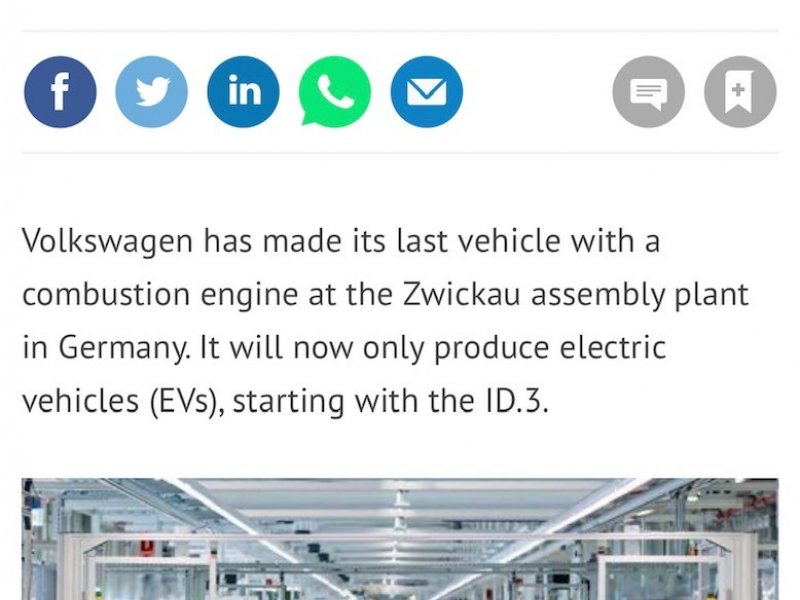 All-electric future for VW at Zwickau