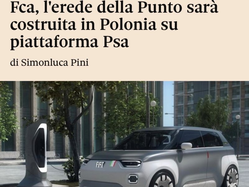 Fca, the new Punto will be built in Poland