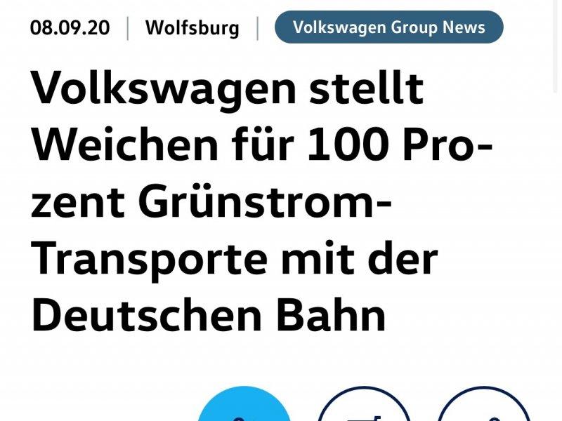 VW per il 100% dei trasporti green