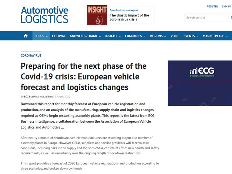 European vehicle forecast and logistics changes