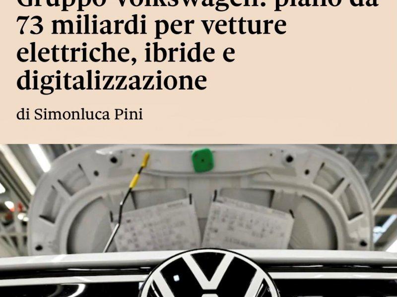 Gruppo VW: piano da 73 miliardi