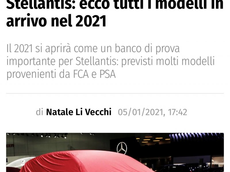 Stellantis: i modelli in arrivo nel 2022