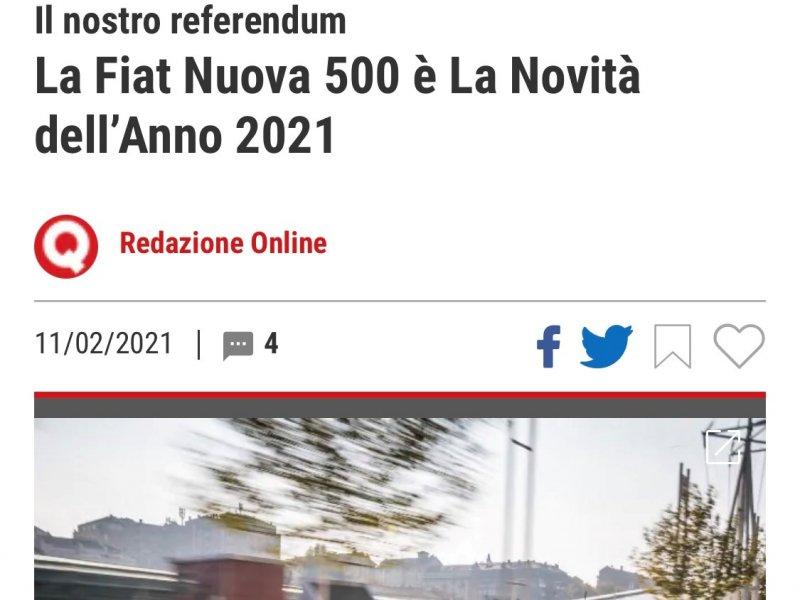La Fiat Nuova 500 è La Novità dell'Anno 2021