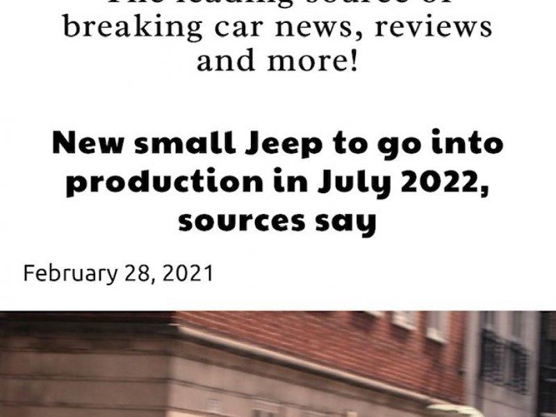 La nuova piccola Jeep in produzione a luglio 2022