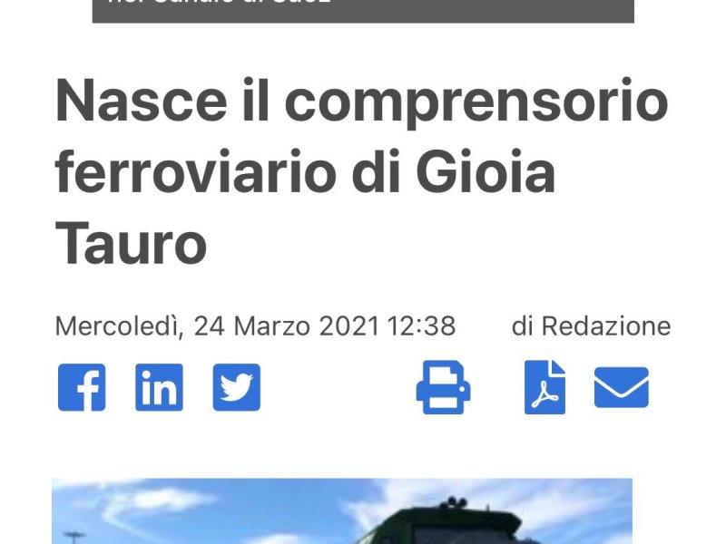 Nasce il comprensorio ferroviario di Gioia Tauro