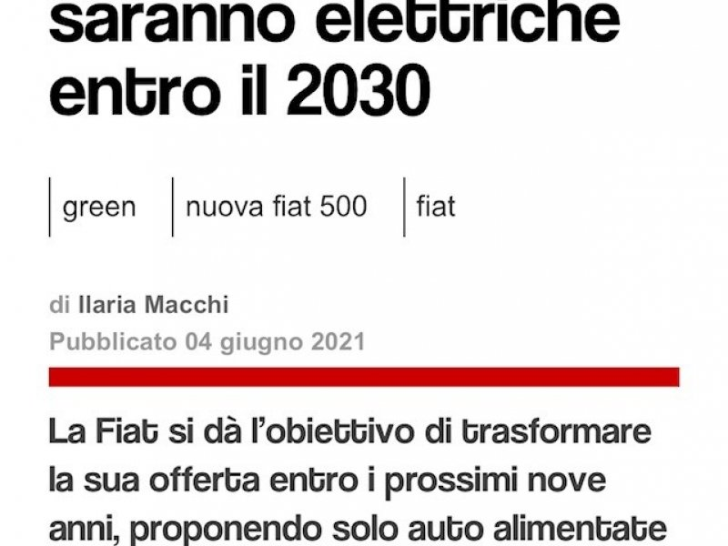 All Fiat cars will be electric by 2030