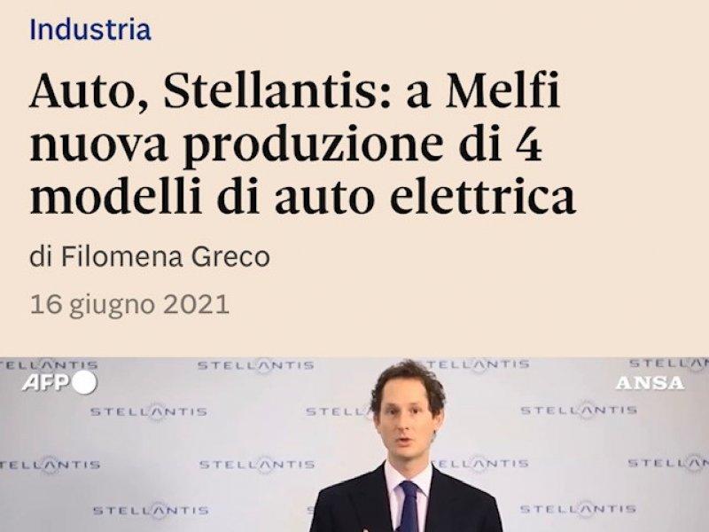 Stellantis: a Melfi nuova produzione di 4 modelli