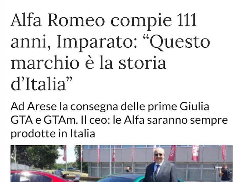 Alfa Romeo celebrates 111 years